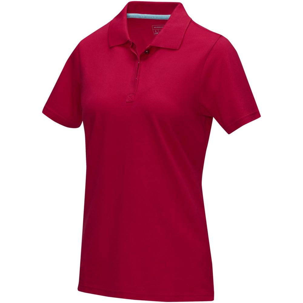 Graphite dames polo met korte mouwen GOTS biologisch textiel