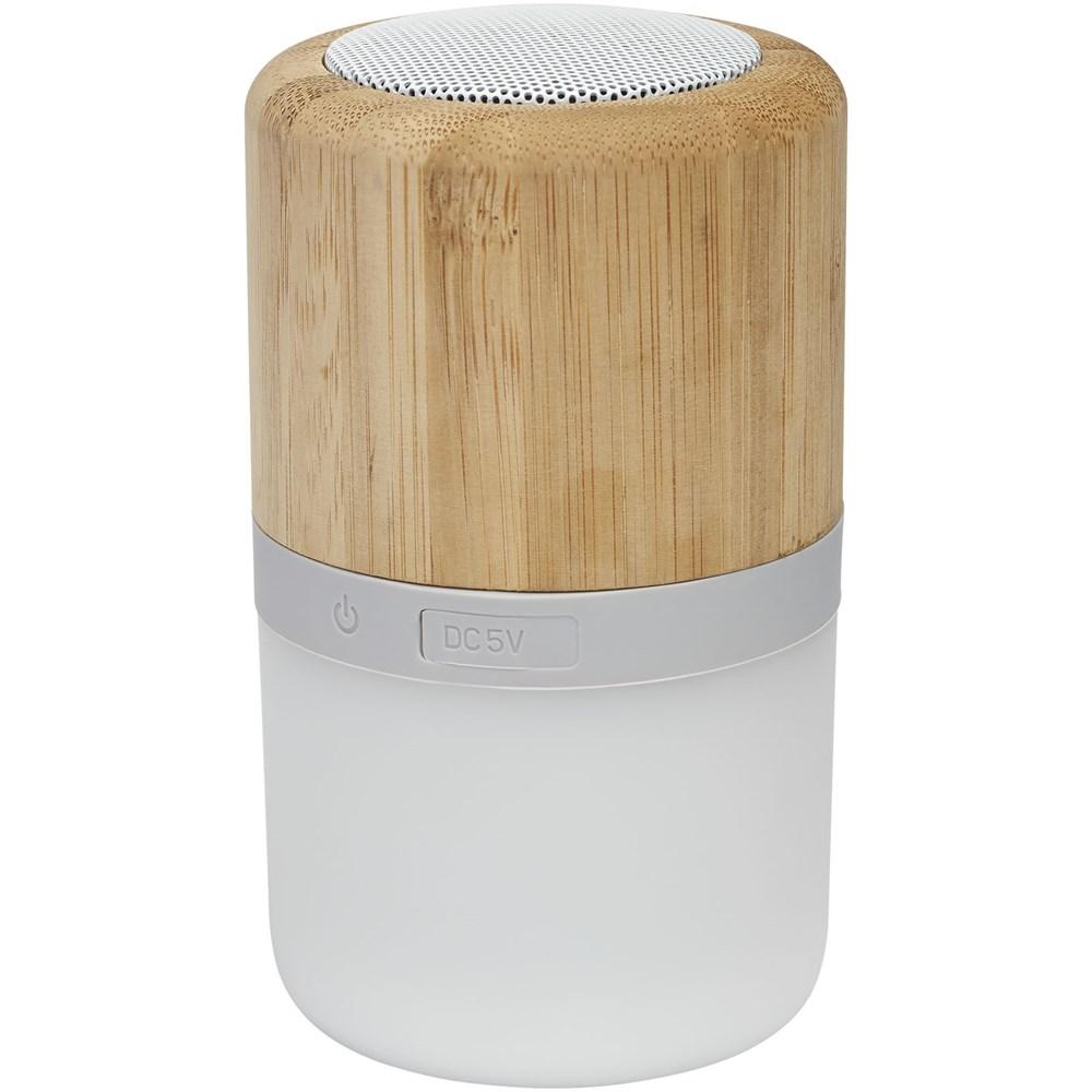 Bild Aurea Bluetooth® Lautsprecher aus Bambus mit Licht