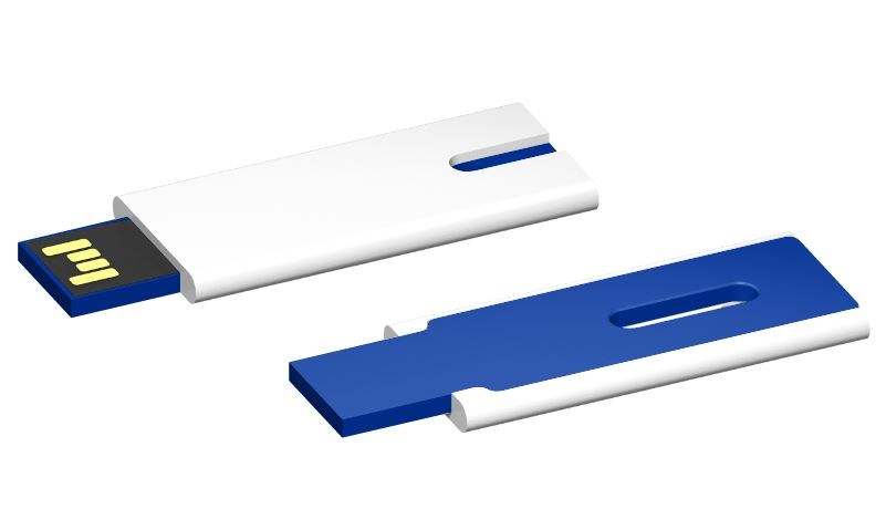 USB stick Skim 2.0 wit-blauw 32GB