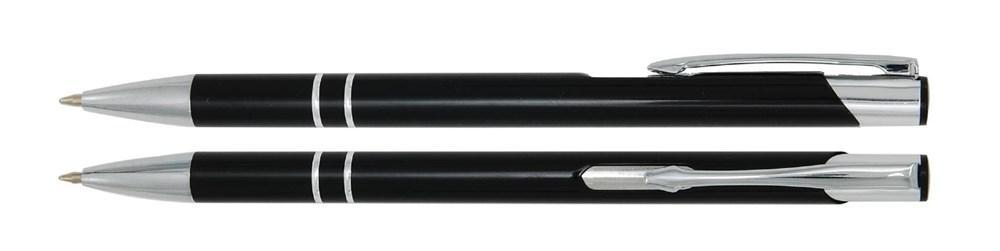 Aluminium balpen slank zwart