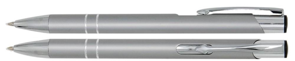 Aluminium balpen 2 chroom ringen zilver