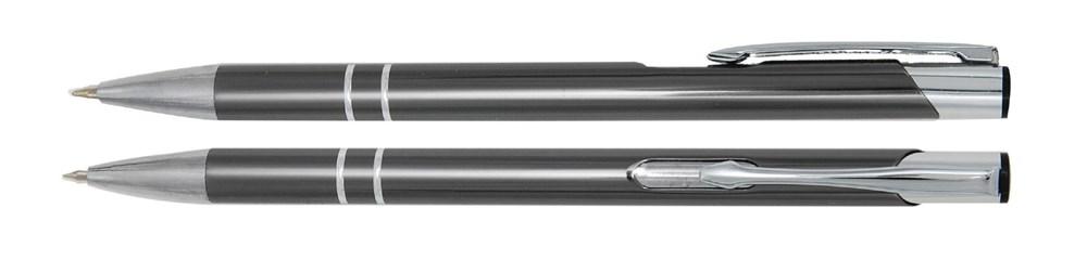 Aluminium balpen slank antraciet