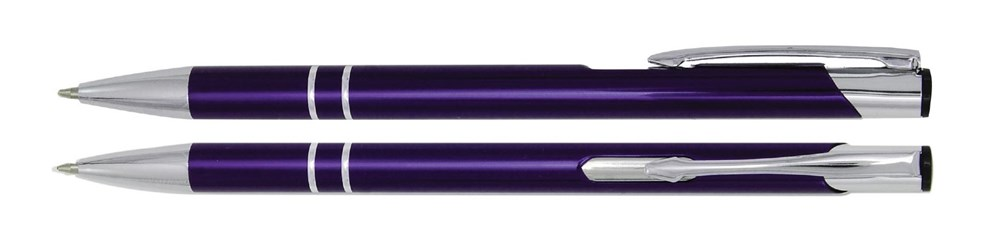Aluminium balpen slank violet