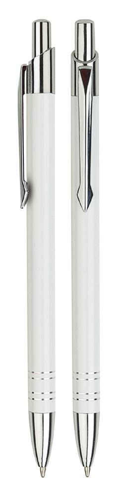Aluminium balpen slank wit