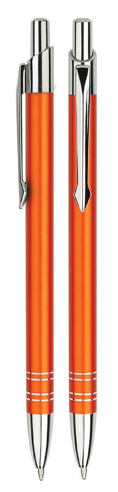 Aluminium balpen slank oranje