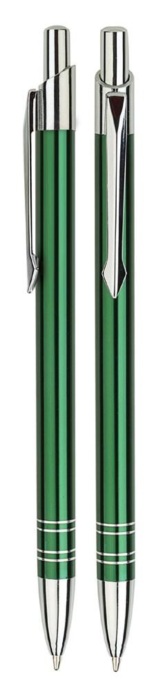 Aluminium balpen slank groen