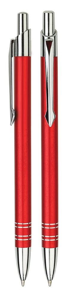 Aluminium balpen slank rood