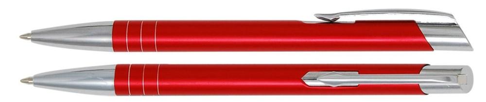 Aluminium balpen smalle ringen rood