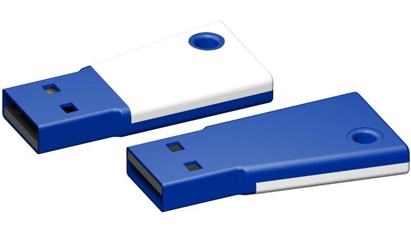 USB stick Flag 2.0 wit-blauw 1GB