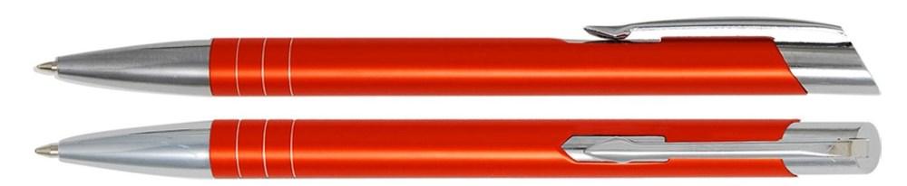 Aluminium balpen smalle ringen oranje