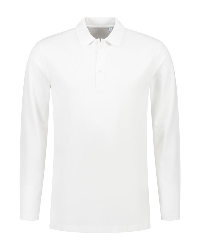 L&S Polo Basic Cot/Elast LS for him