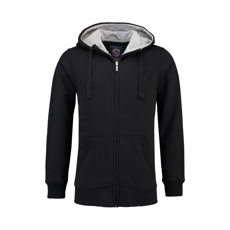 L&S Heavy Sweater Hooded Cardigan for him