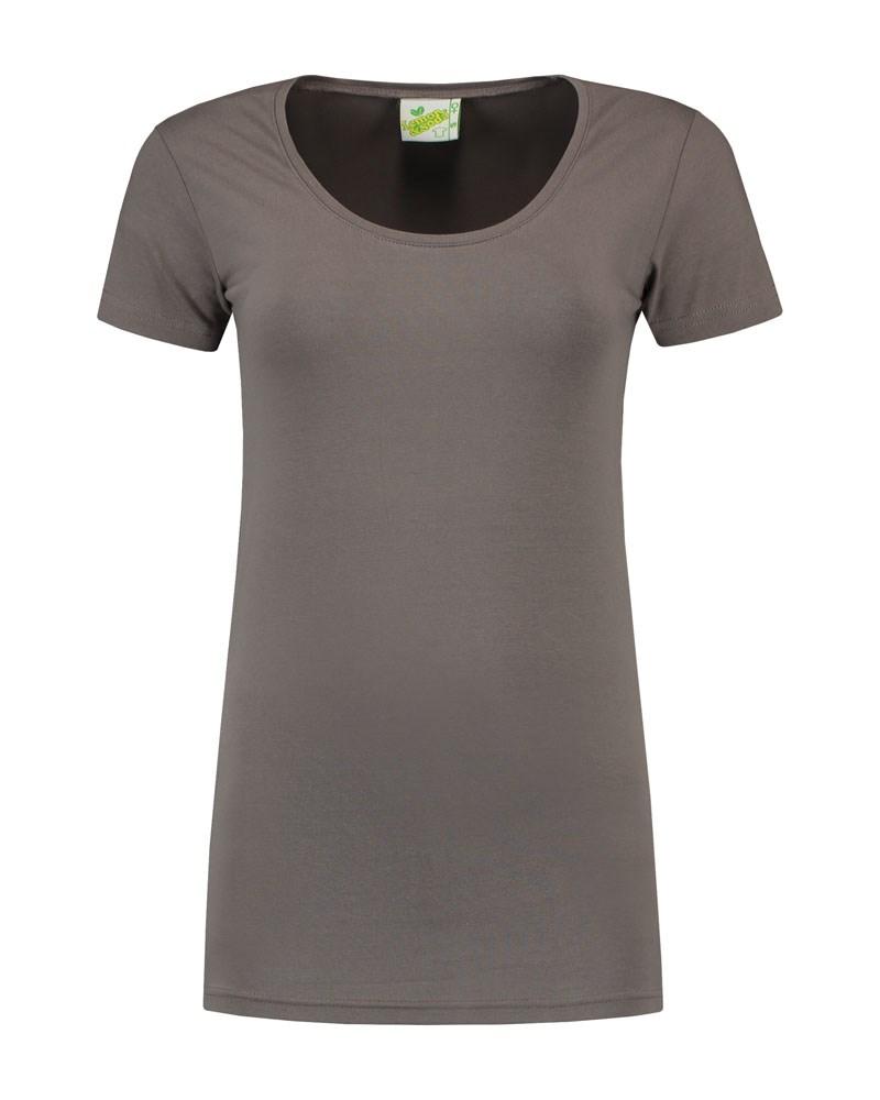 L&S T-shirt Crewneck cot/elast SS for her