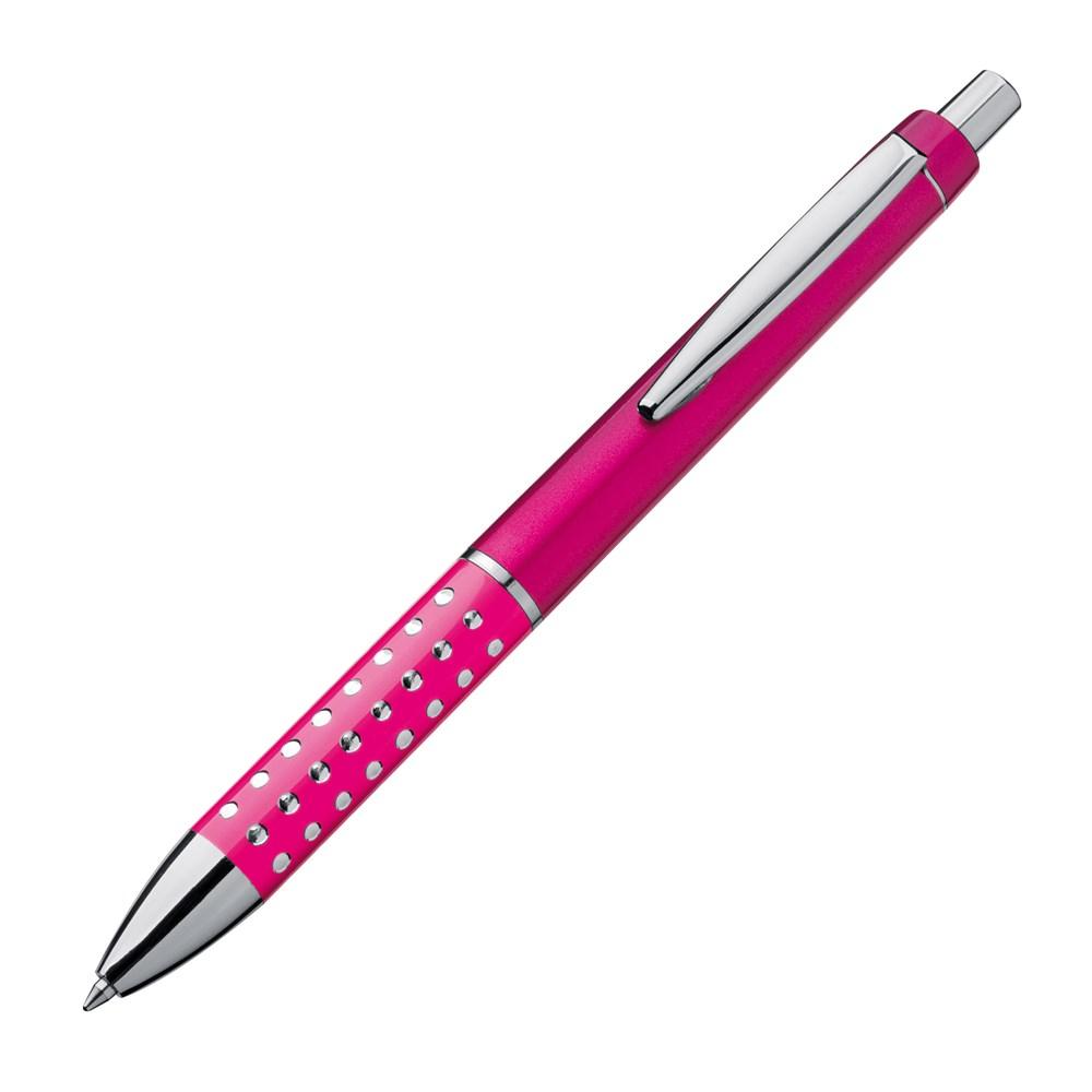 Kunststof pen met glimmend effekt