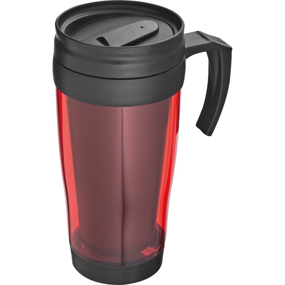 Kunststof drinkbeker met afsluitbare deksel- 0,4L