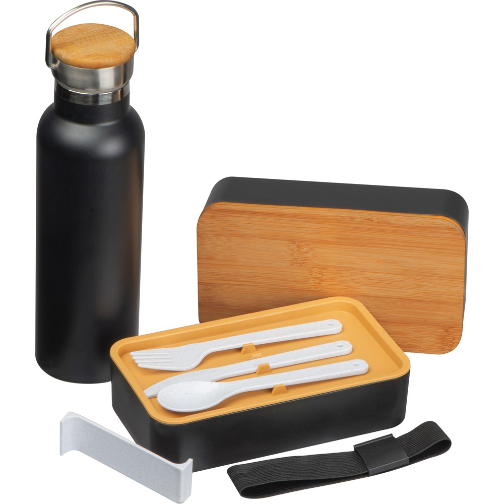Set van lunchbox en drinkfles