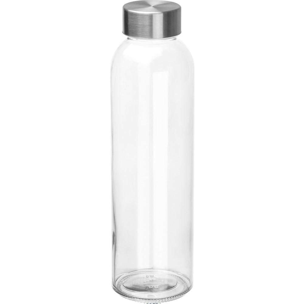 Glazen drinkfles met RVS sluiting