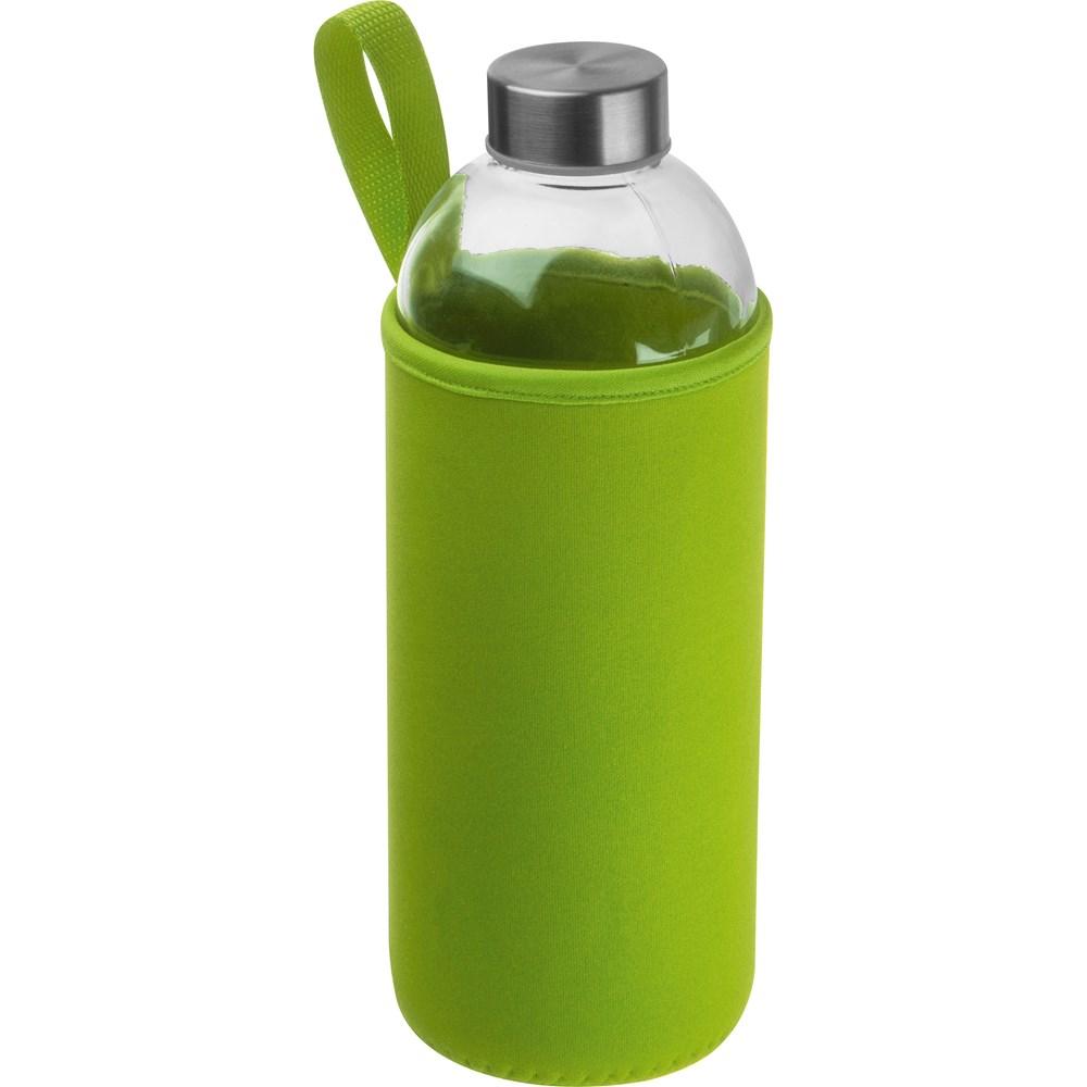 Drinkfles met neopreensleeve en inhoud van 1 liter