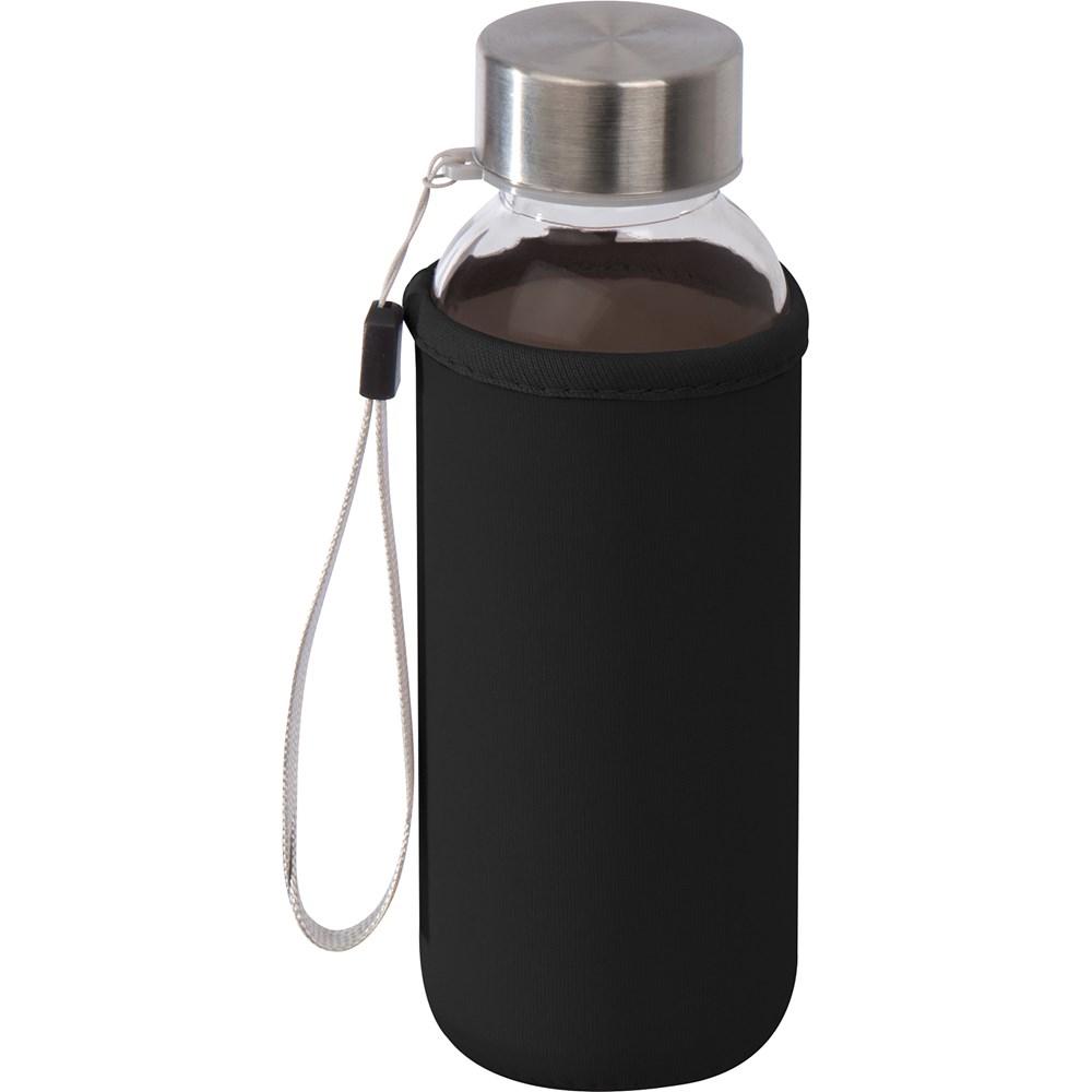 Drinkfles van glas met neopreen hoesje