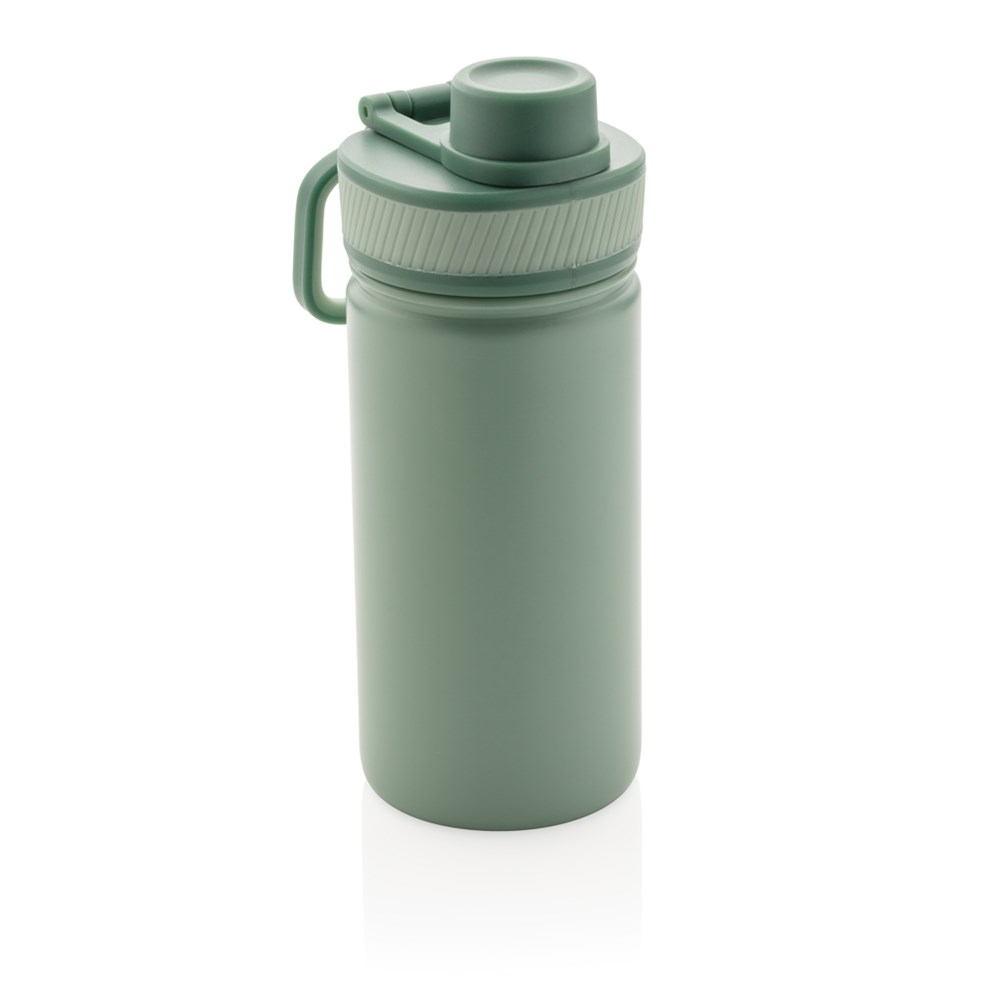 Vacuüm roestvrijstalen fles met sportdop 550ml