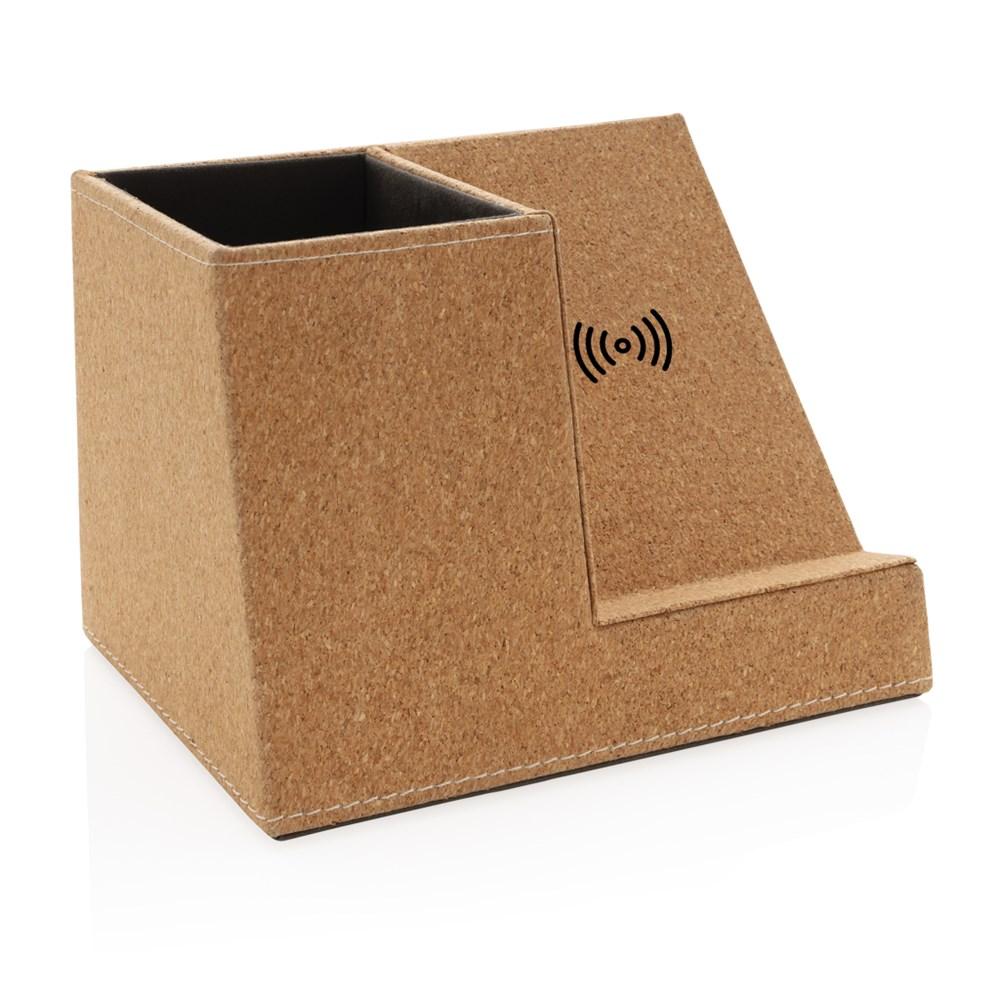 Kork Stiftehalter mit 5W Wireless Charger