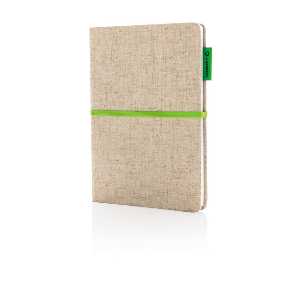 A5 Eco Jute Notizbuch