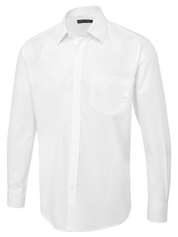 Uneek Men's Long Sleeve Poplin Shirt (Tailored Fit) UC713