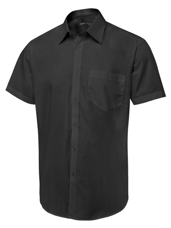 Uneek Men's Short Sleeve Poplin Shirt (Tailored Fit) UC714