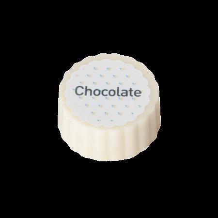 Logobonbon van witte chocolade