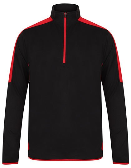 Finden+Hales - Adults` 1/4 Zip Midlayer with Contrast Panelling