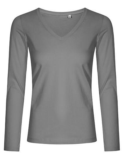 X.O by Promodoro - Women´s V-Neck T-Shirt Longsleeve
