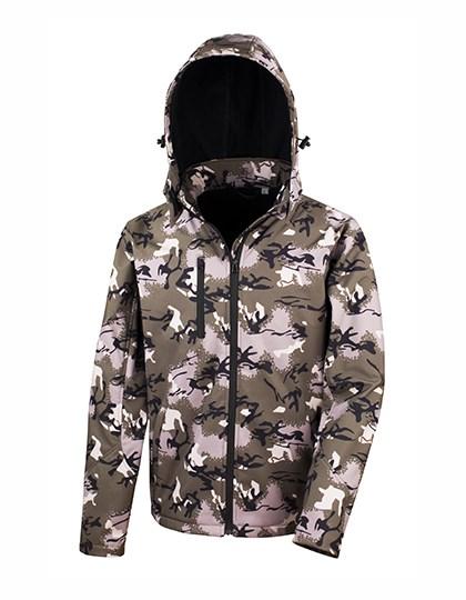 Result - Camo TX Performance Hooded Softshell Jacket