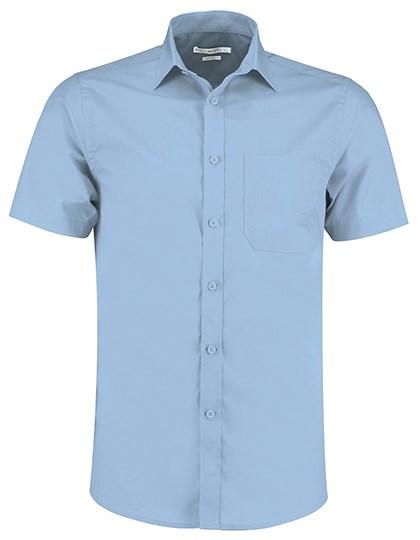 Kustom Kit - Tailored Fit Poplin Shirt Short Sleeve