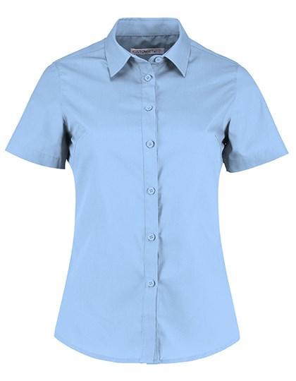 Kustom Kit - Women`s Tailored Fit Poplin Shirt Short Sleeve
