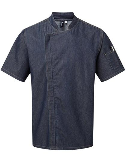 Premier Workwear - Chefs Zip-Close Short Sleeve Jacket