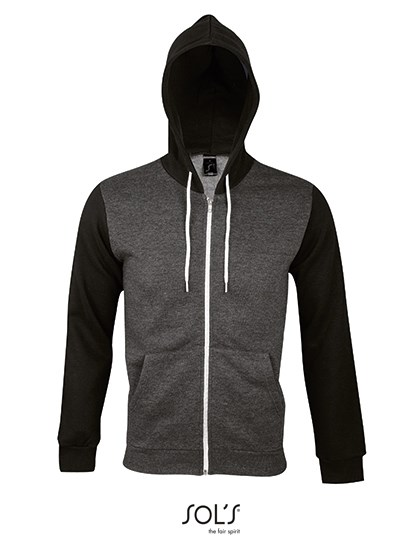 SOL´S - Unisex Hooded Zipped Jacket Silver