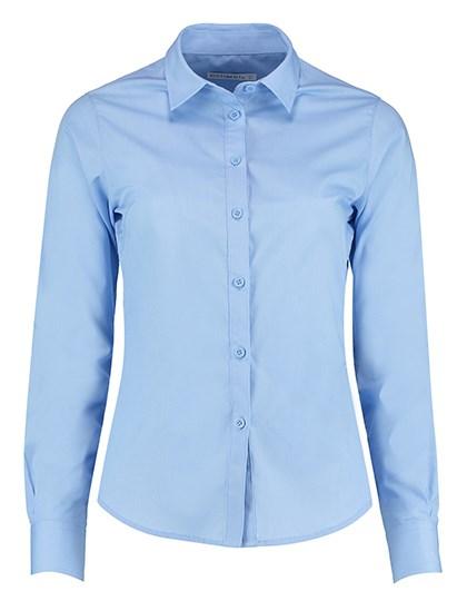 Kustom Kit - Women`s Tailored Fit Poplin Shirt Long Sleeve