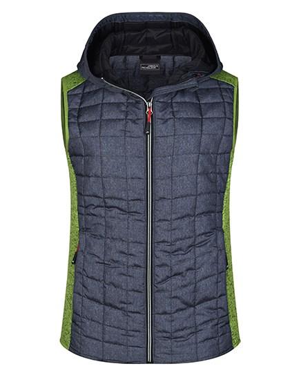 James+Nicholson - Ladies' Knitted Hybrid Vest