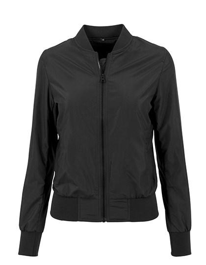 Build Your Brand - Ladies` Nylon Bomber Jacket