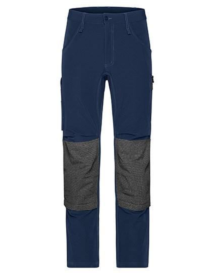 James+Nicholson - Workwear Pants 4-Way Stretch Slim Line