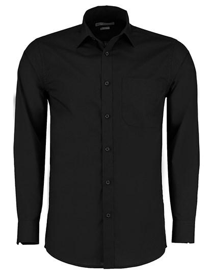 Kustom Kit - Tailored Fit Poplin Shirt Long Sleeve