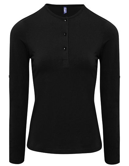 Premier Workwear - Womens Long-John Roll Sleeve Tee