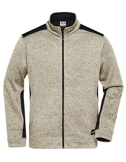 James+Nicholson - Men's Knitted Workwear Fleece Jacket -STRONG-