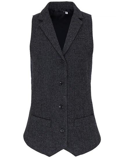 Premier Workwear - Ladies Herringbone Waistcoat