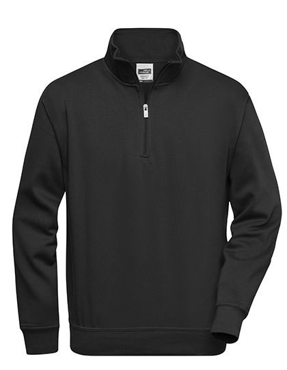 James+Nicholson - Workwear Half Zip Sweat