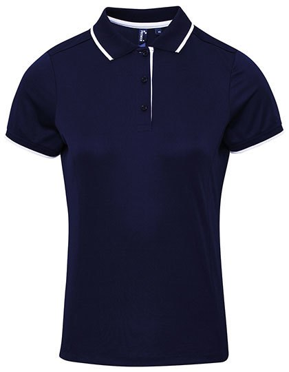 Premier Workwear - Ladies` Contrast Coolchecker® Polo