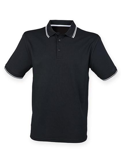 Henbury - Men's Coolplus® Short Sleeved Tipped Polo Shirt