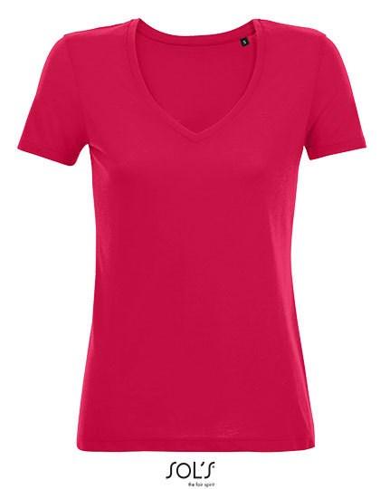 SOL´S - Women´s Flowy V-Neck T-Shirt Motion