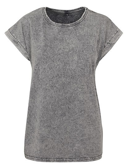 Build Your Brand - Ladies` Acid Washed Extended Shoulder Tee
