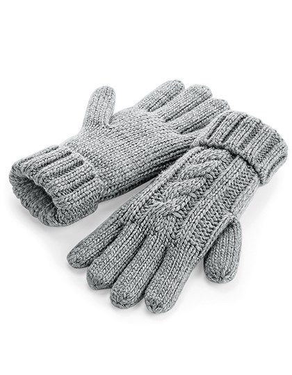 Beechfield - Cable Knit Melange Gloves